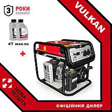 Бензиновий електрогенератор Vulkan SC4000E-II 3,8 кВт + масло 4Т 2шт.