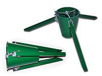 Подставка елочная металлическая складная с пластиковым ведерком (3 ножки)