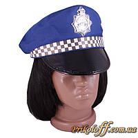 """Шляпа """"Полицейский"""", голубая"""
