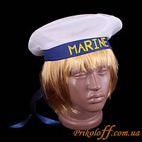 """Шляпа """"Бескозырка"""", синяя лента"""