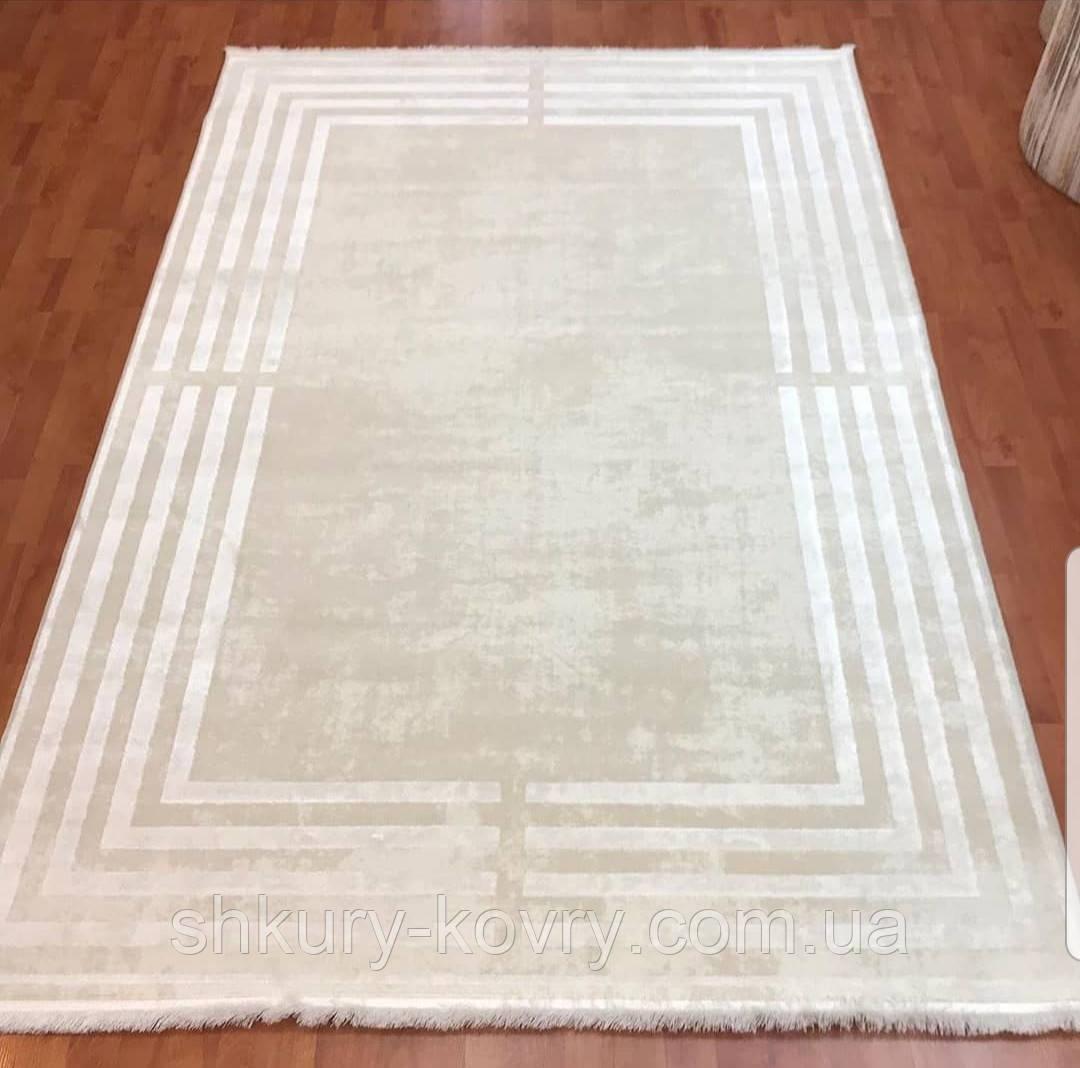 Великолепный кремовый ковер в стиле минимал из хлопка