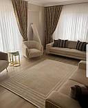 Великолепный кремовый ковер в стиле минимал из хлопка, фото 6