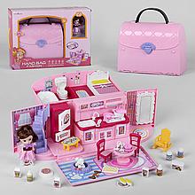Кукольный домик сумочка ТВЕ 855-1, свет, звук