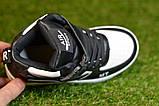 Кроссовки детские высокие хайтопы Nike white black найк белые черный р31-36, копия, фото 4