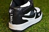 Кроссовки детские высокие хайтопы Nike white black найк белые черный р31-36, копия, фото 8