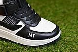 Кроссовки детские высокие хайтопы Nike white black найк белые черный р31-36, копия, фото 7