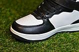 Кроссовки детские высокие хайтопы Nike white black найк белые черный р31-36, копия, фото 5