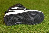 Кроссовки детские высокие хайтопы Nike white black найк белые черный р31-36, копия, фото 6