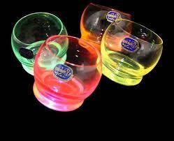Набор стаканов для виски 390мл Bohemia Crazy neon 7594 (25250 390S D4904) - 4 штуки, 390 мл
