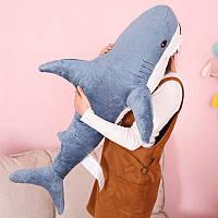 Мягкая плюшевая игрушка акула, большая 100 см, фото 1