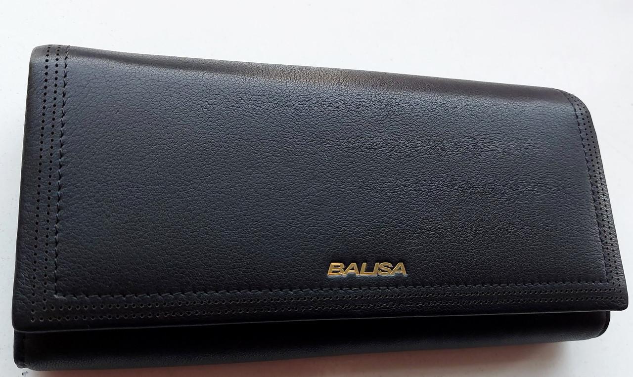Женский кожаный кошелек Balisa PY-A119 черный Женские кожаные кошельки БАЛИСА оптом Одесса 7 км