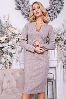 Платье 153R096 цвет Пудровый