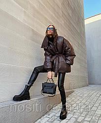 Телпая женская куртка на силиконе