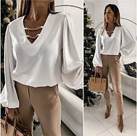 Женская блуза с декором Palmer и широкими рукавами, фото 1