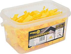 Клипсы для укладки керамичсекой плитки VOREL 6-9 мм фуга- 1.5 мм 100 шт 04677