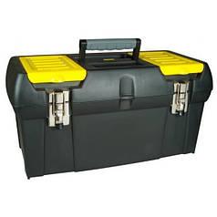Ящик для инструментов пластиковый STANLEY 49 х 26 х 24.8 см с 2 органайзерами и лотком и металлическими