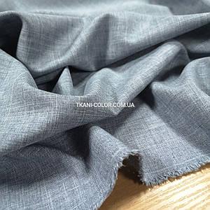 Костюмна тканина габардин льон світло-сірий