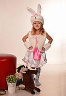Карнавальный костюм белой зайки для девочек