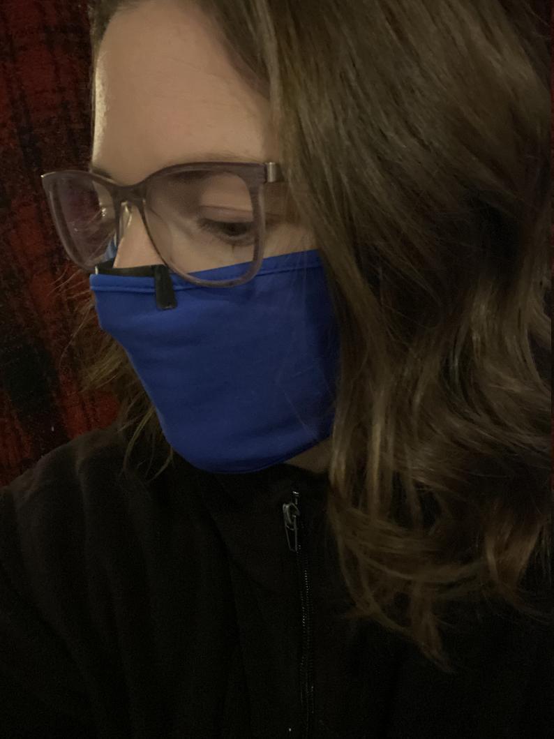 Клипса для лицевой маски - зажим для носа для предотвращения запотевания очков.