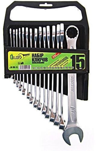 Набор комбинированных ключей 15 штук 6-22 мм Alloid НК-2061-15