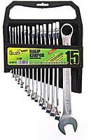 Набор комбинированных ключей 15 штук 6-22 мм Alloid НК-2061-15, фото 1