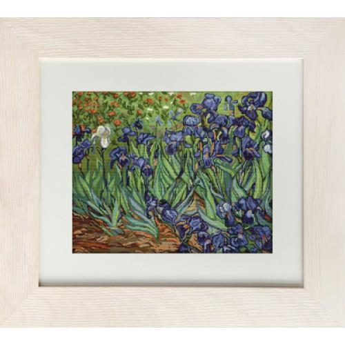 Набор для вышивания нитками Luca-S Цветы Ирисы по картине Ван Гога