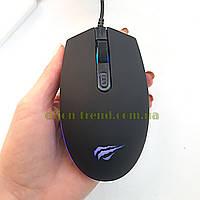 Мышь оптическая проводная HAVIT HV-MS1003 с подсветкой, Мышь компьютерная, Мышка для ноутбука