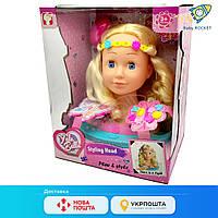 Кукла-манекен для создания причесок и макияжа, световой эффект, с аксессуарами, в коробке.