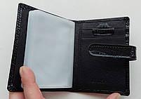 Визитница кожаная 831-45 черный Очень стильная, удобная, компактная визитница (Balisa) - из натуральной кожи, фото 3