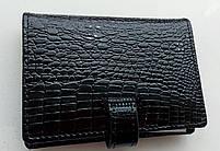 Визитница кожаная 831-45 черный Очень стильная, удобная, компактная визитница (Balisa) - из натуральной кожи, фото 4