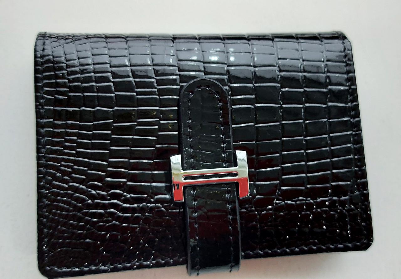 Визитница кожаная 831-45 черный Очень стильная, удобная, компактная визитница (Balisa) - из натуральной кожи