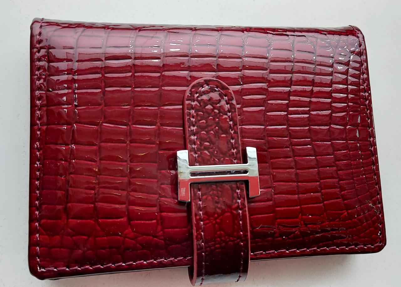 Визитница кожаная 831-45 бордовый Очень стильная, удобная, компактная визитница (Balisa) - из натуральной кожи