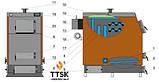 Твердотопливный котел Kotlant КВ-350 с электронной автоматикой и вентилятором, фото 3
