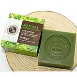 Натуральне мило з екстрактом чайного листа і кокосовим маслом BIOAQUA Matcha Natural Oil Soap, 100 г, фото 4