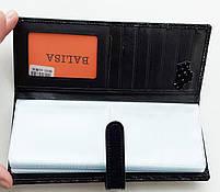 Визитница кожаная 832-45 черный Очень стильная, удобная, компактная визитница (Balisa) - из натуральной кожи, фото 2