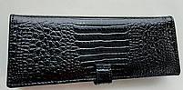 Визитница кожаная 832-45 черный Очень стильная, удобная, компактная визитница (Balisa) - из натуральной кожи, фото 4