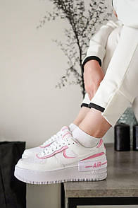 Женские кроссовки Nike Air Force Shadow White Pink