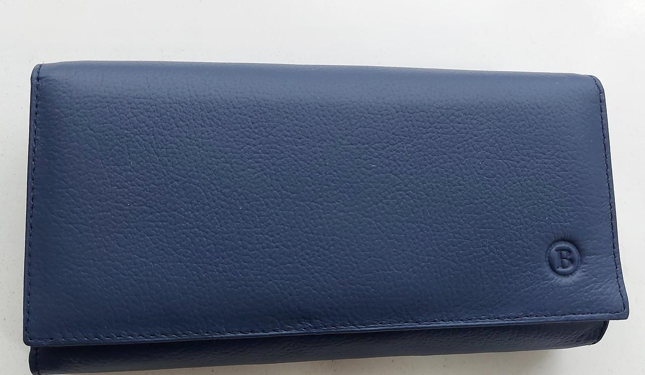 Женский кожаный кошелек с визитницей Balisa 140-1013 синий Кожаные кошельки оптом
