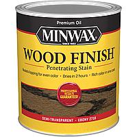 Масляная морилка MINWAX WOOD FINISH (эбони 2718) 0,946 л