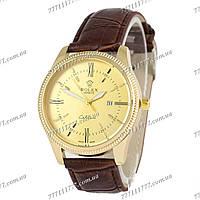Часы мужские наручные Rolex Cellin Quartz Brown/Gold/Gold