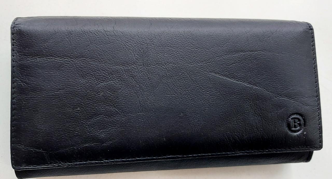 Женский кожаный кошелек с визитницей Balisa 140-581 черный Кожаные кошельки оптом