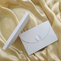 Подарунковий конверт-коробочка 80х120х8 мм з кольорового дизайнерського картону, фото 1