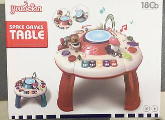 Детский игровой развивающий столик, звук, свет