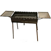 Мангал - чемодан 3 мм на 9 шампуров со столиками 570х300х150мм Раскладной Походный