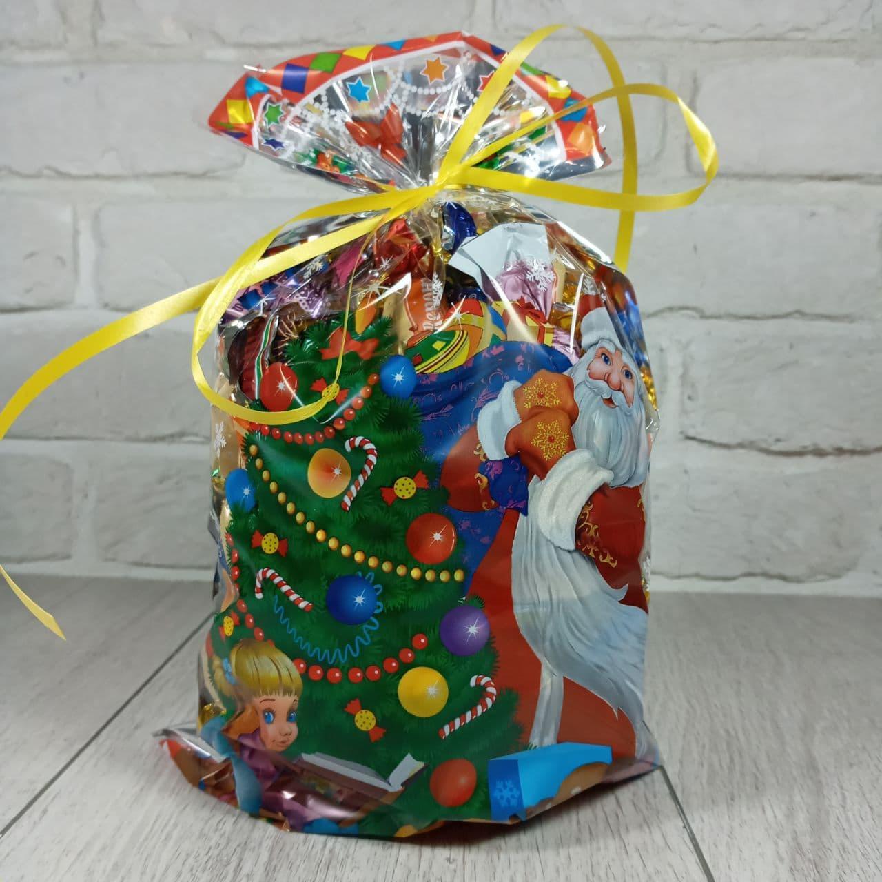 Новогодняя подарочная упаковка для конфет 20см 35см Новогодняя ночь (100 шт)