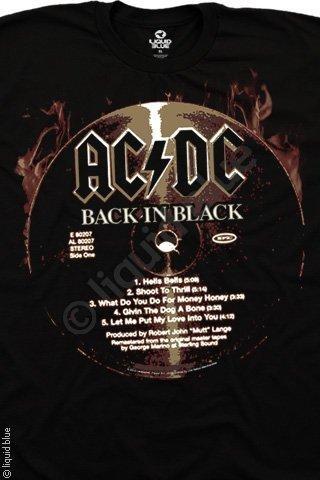 Футболка Liquid Blue BACK IN BLACK CD