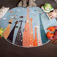 Дитячий килимок-мішок (Dizzy) круглий  150 см. (ХБ тканину) (150-440-G2)