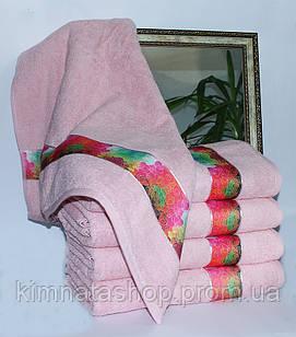 ТМ TAG Рушник махровий Весна рожеве серця 70х140