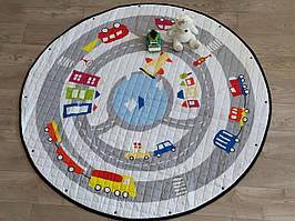 Дитячий килимок-мішок (Dizzy) круглий  150 см. (ХБ тканину) (150-440-D1)