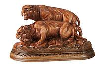 "Скульптурная композиция ""Тигры на охоте"""